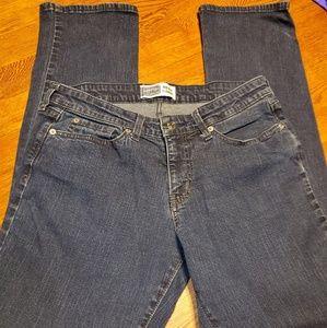 Levi's, size 10, mid-rise straight leg jeans.